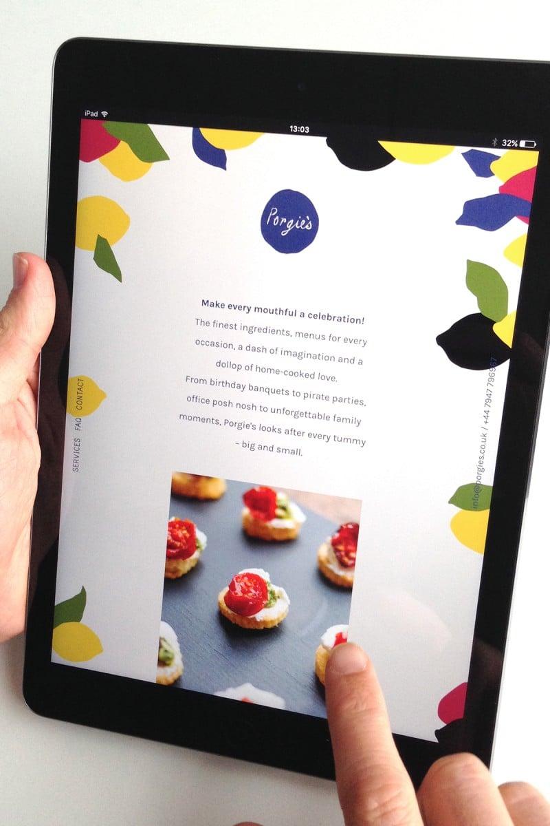 Food catering website
