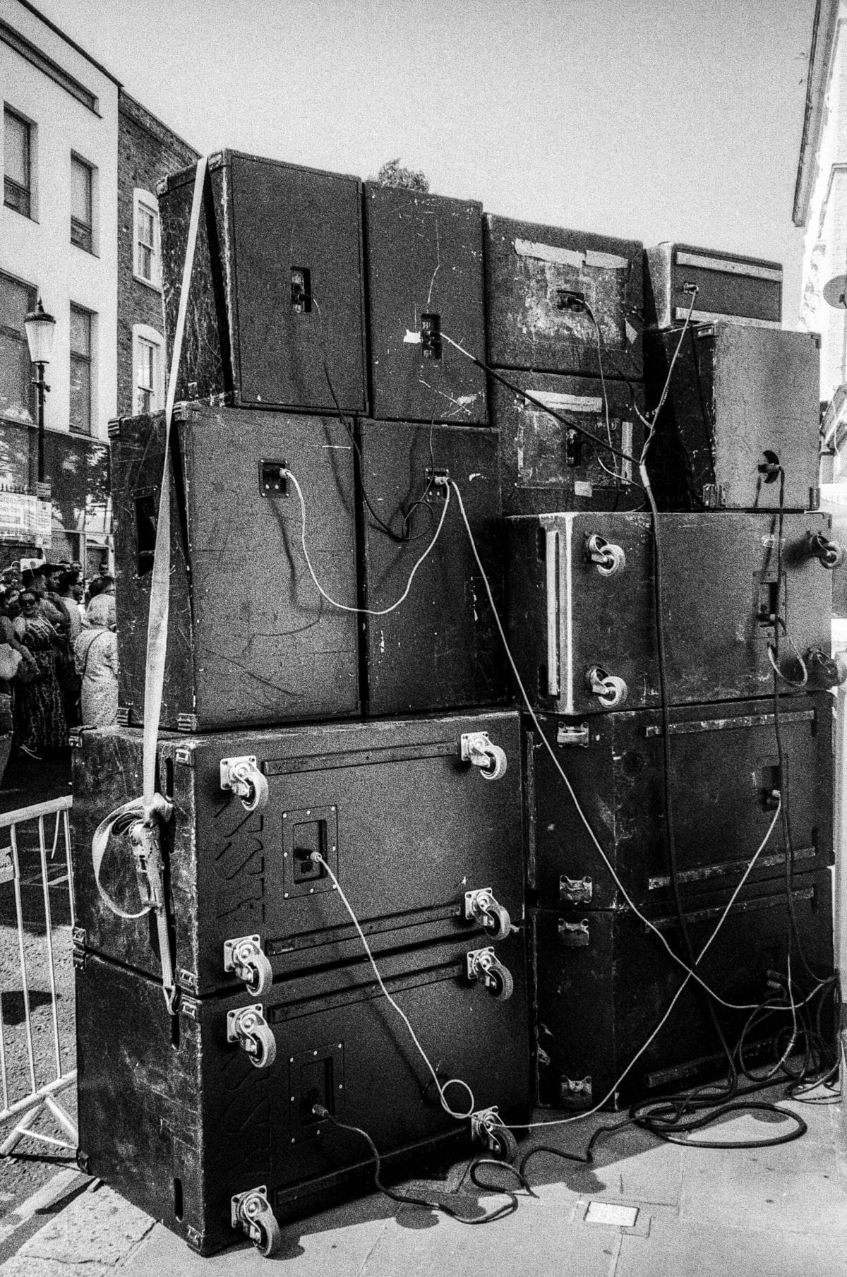 Behind a Sound System at notting hill carnival
