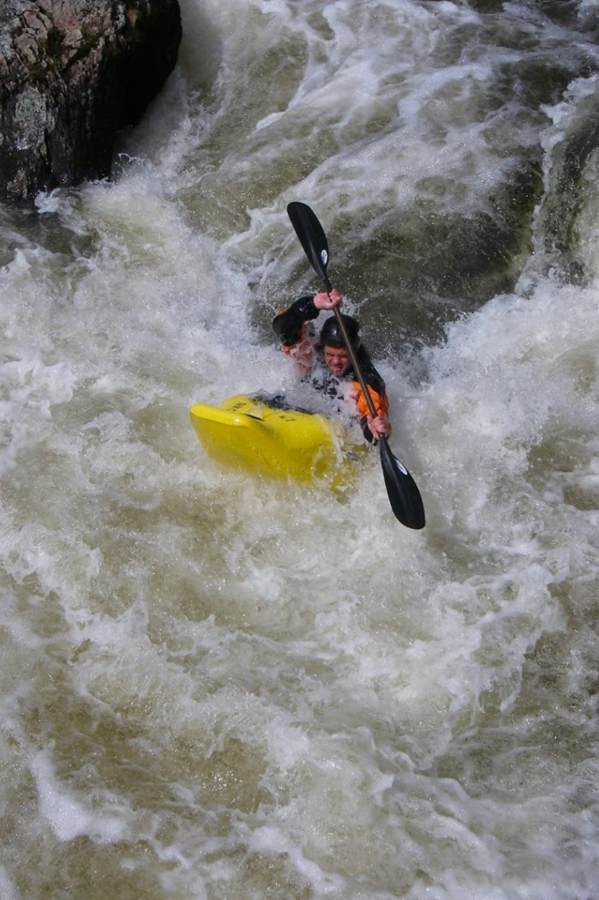 Kayaker in white water