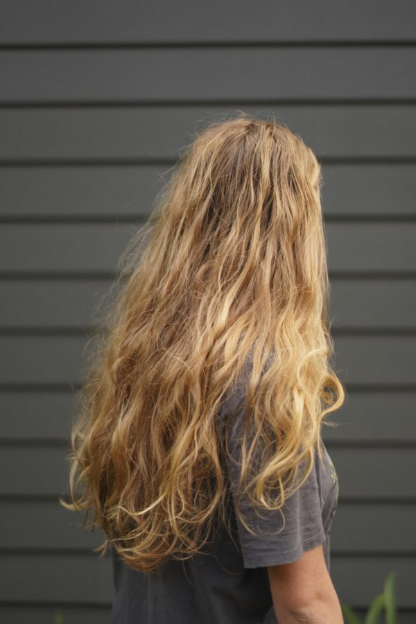Portrait of young girls long hair